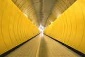 Yellow tunnel — Stock Photo