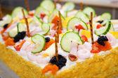 Sandwich Layer Cake — Stock Photo