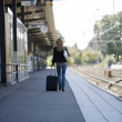 Stock Photo: Travelling Woman