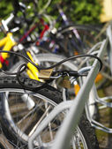 Locked bicycle — Stock Photo