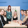 Teacher and students — Stock Photo
