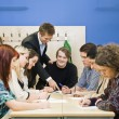 Teacher and students — Stock Photo #9983284