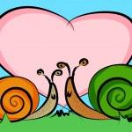 Snails in love — Stock Vector #10236213