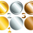 Постер, плакат: Games medals or labels set1