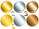 Games medals or labels-set1 — Stock Vector