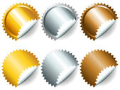 Games medals or labels-set2 — Stock Vector
