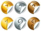 Médailles des jeux ou des étiquettes-set3 — Vecteur