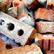 Pile of bricks — Stock Photo