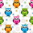 Seamless owl pattern — Stock Vector #10503312