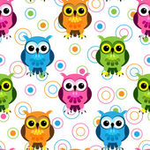 Seamless owl pattern — Stockvektor