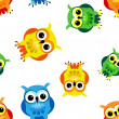 Royalty-Free Stock Vector Image: Seamless cartoon owls