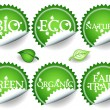 Green stickers-set2 - Stock Vector