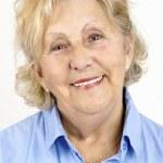Portrait of happy senior woman — Stock Photo