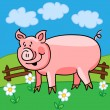 Pig cartoon — Stock Vector