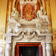 Stock Photo: Luxurious marble fireplace