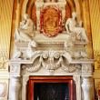 Luxurious marble fireplace - Stock Photo