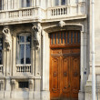Old european building wooden door — Stock Photo #8996659