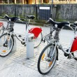 Bikes for rent at their station — Stock Photo #9017708