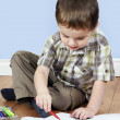little boy coloring — Stock Photo
