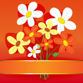 Bouquet flower card — Stock Vector