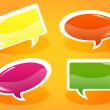 Glossy speech bubbles — Stock Vector #9683781