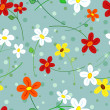 Seamless daisy flowers pattern — Stock Vector