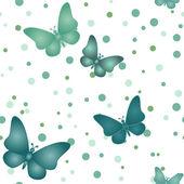Бесшовные серая бабочка шаблон — Cтоковый вектор