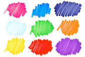 Colorful ink blots-very large-set2 — 图库照片