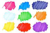 Renkli mürekkep lekesi çok büyük set2 — Stok fotoğraf