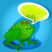 Frog with speech bubble — Stock Vector