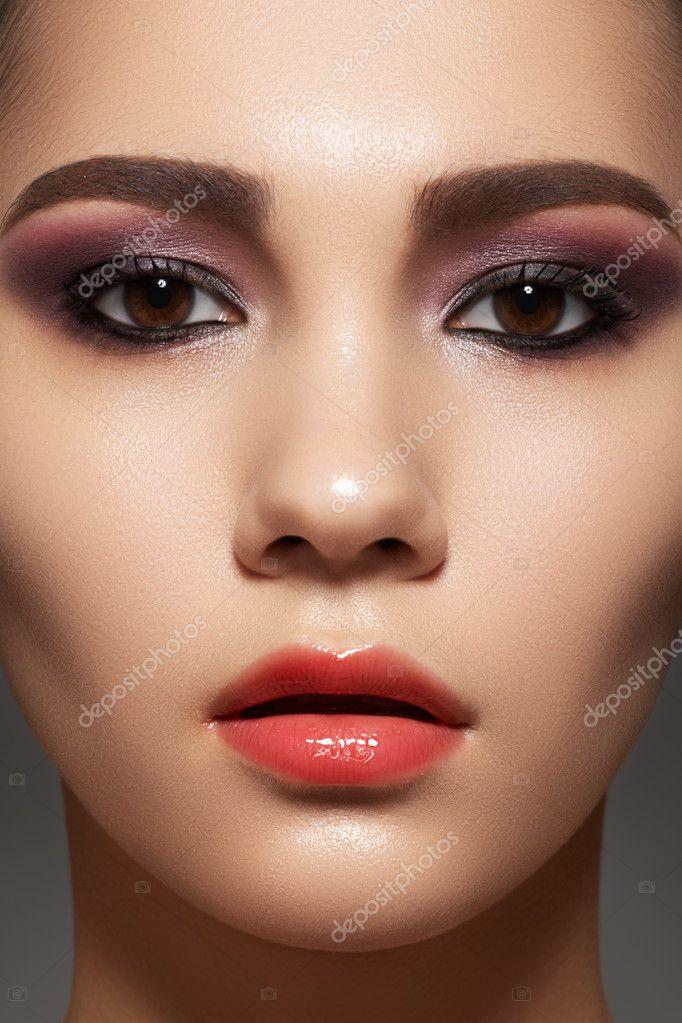 closeup retrato de la belleza de rostro atractivo modelo. Black Bedroom Furniture Sets. Home Design Ideas