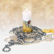 Festive candle — Stock Photo