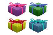 Uppsättning av gåva på vit — Stockfoto