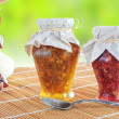 Two jars of fruit jam — Foto Stock