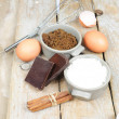 Sweet ingredients for cake — Stock Photo