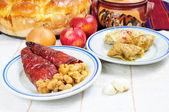 Tradiční postní pokrmy z balkánu — Stock fotografie