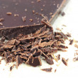 Closeup of chopped chocolate — Foto de Stock