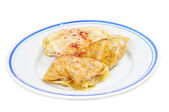 Traditional lenten fare from the Balkans - sarma, isolated — Foto Stock
