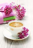 Cup of coffee espresso — Stock Photo