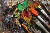 Painter's palette — Stock Photo