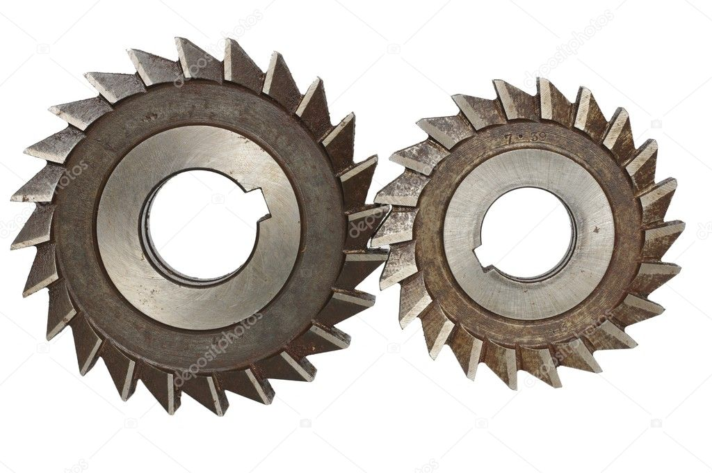 Mechanism from cog-wheels on white background — Stock Photo #8708708