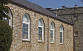 Old Arched Windows in a Stone Building — Stock Photo
