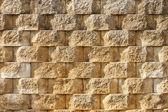 Textured Interlocking Block Wall in Morning Light — Stock Photo