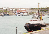 Tugboat at Harbor on Bermuda — Stock Photo