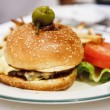Gourmet Burger with Lettuce and Tomato — Stock Photo #9546722