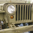Front of Old Jeep with Camo Paint — Stock Photo
