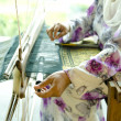 Stock Photo: Songket weaver