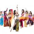 Stock Photo: Belly dance troupe