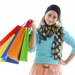 Muslim shopper — Stock Photo
