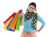 Muslim shopper — Stock Photo
